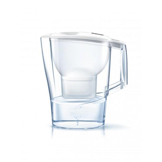 BRITA Aluna Cool Memo Филтрираща кана за вода - пакет 2 филтъра - бяла