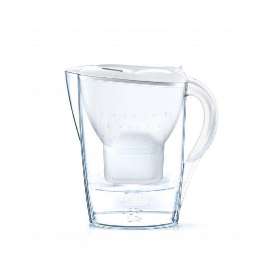 BRITA Marella Cool Memo Филтрираща кана за вода - бяла